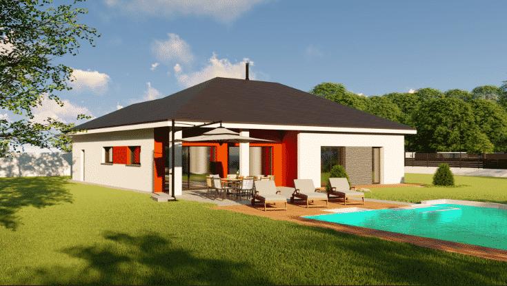 Logo Design'Batiment Création et construction de maison sur mesure Bourgoin-Jailleu Rhone Alpes